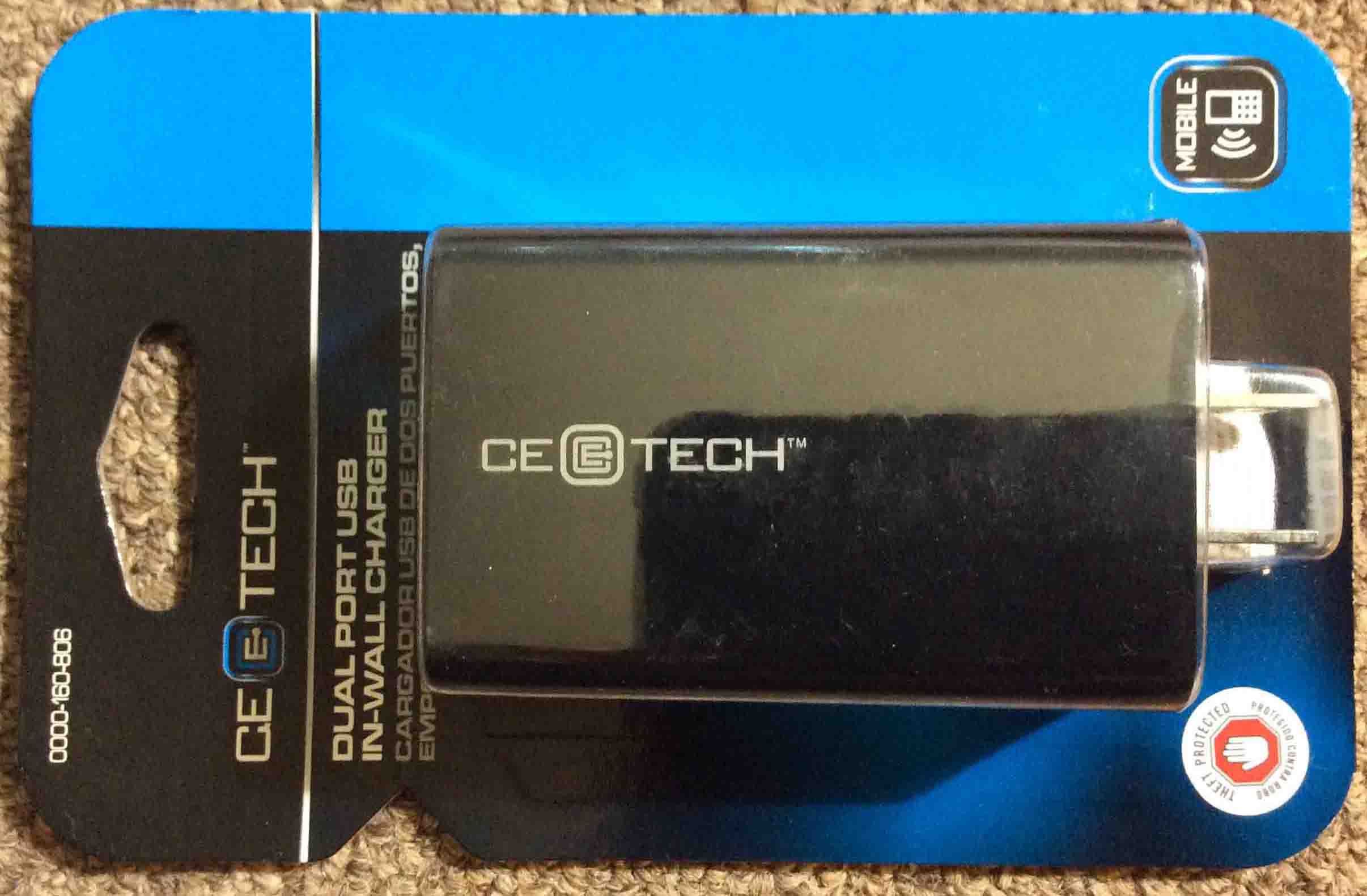 Ce Tech Dual Port In Wall Usb Charger 0000 160 806 Review