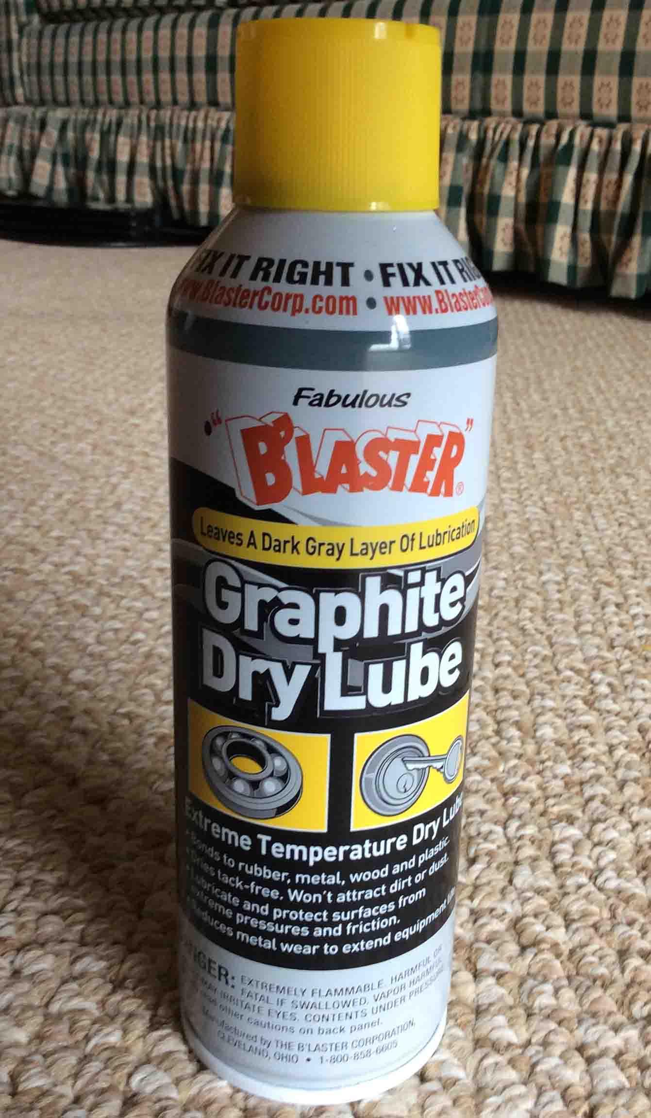 Blaster Graphite Dry Lubricant Lube Spray Review Tom S