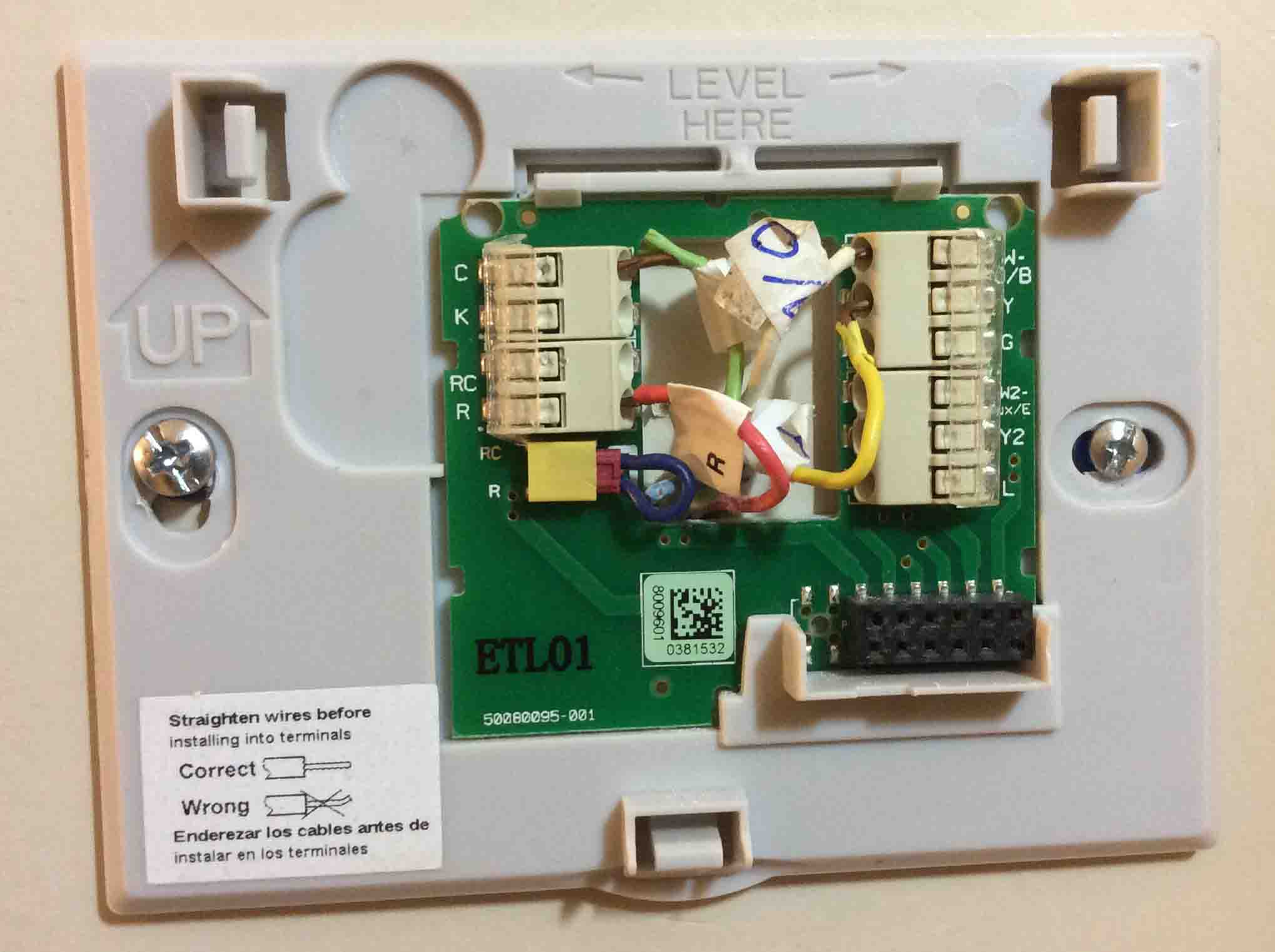4 Wire    Thermostat       Wiring    Color Code   Tom s Tek Stop
