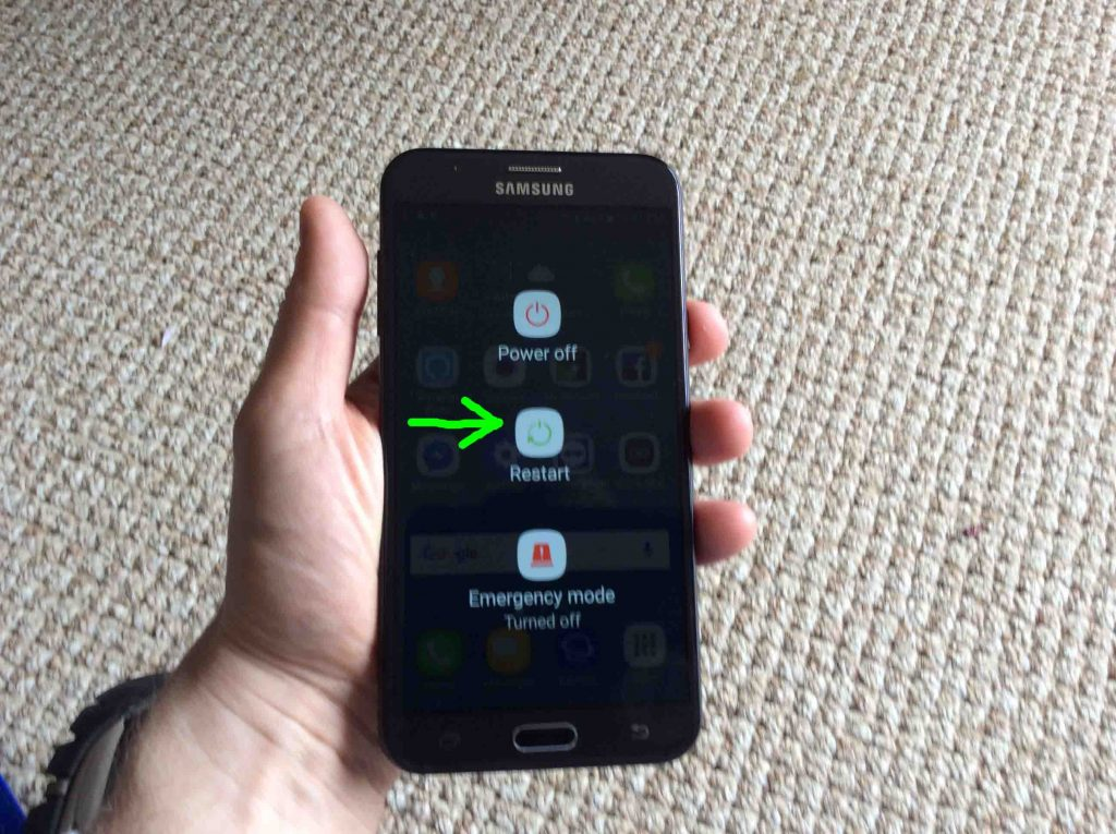 How To Restart Tracfone Samsung Galaxy J7 Sky Pro Android